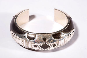 Handmade Sterling Silver and Ebony Bracelet from Timbuctou - bracelets & bangles