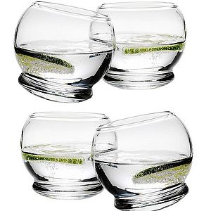 Set Of Four Rocking Glasses - shop by price