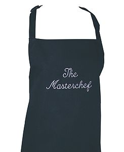 Embroidered Apron - kitchen linen