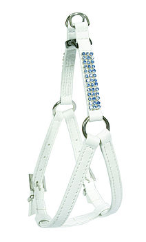 Chic sparkle stepin harness - white