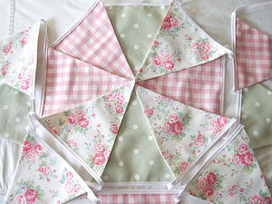 Spray Flowers Floral Bunting - children's decorative accessories