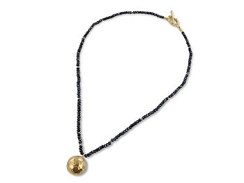 Black and Gold Globe Necklace