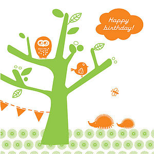 'Tree Party' Birthday Card - birthday cards