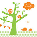 'Tree Party' Birthday Card