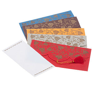 Pack of Gold Leaf Gift Envelopes - gift bags & boxes