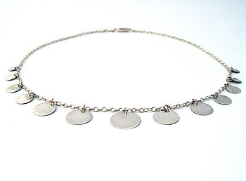 Silver Discs Necklace
