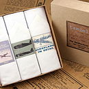 Box of Three Men's Hankies: Airplanes