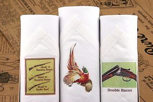 Box of III Men's Hankies: Shooting
