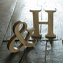 Natural mango wood letters