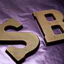 Chocolate letters s + b
