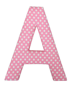 Fabric Letters (CHOOSE FROM 13 DIFFERENT FABRICS)