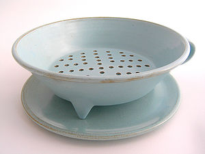 Large Colander And Plate