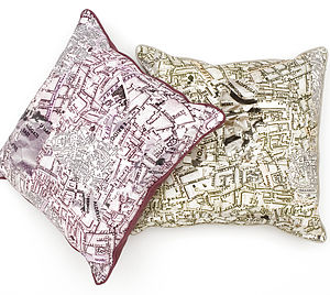 History Maps Cushion