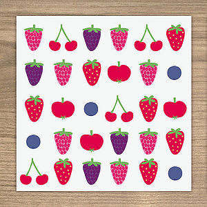 Berries card - winter sale