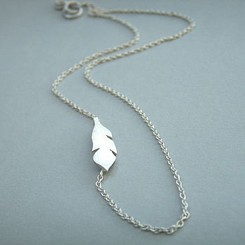 Feather Side Necklace