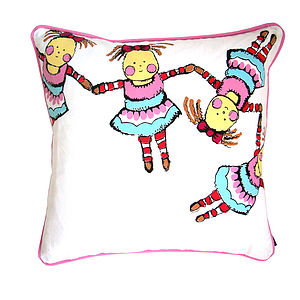 Linked Doll Cushion - baby's room