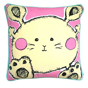 Single Bunny Cushion - baby's room
