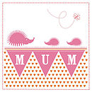 'Mum' greeting card