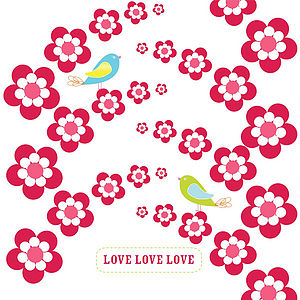 'Cherry Drops' Love Greeting Card - wedding cards