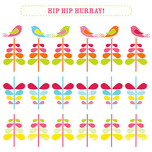 'Candy Cane' Hip Hip Hurray Greeting Card - birthday cards