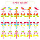 'Candy Cane' Hip Hip Hurray Greeting Card