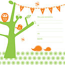 'Tree Party Invitation' Pack of Eight