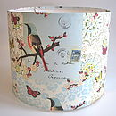 Vintage Paper Bird & Butterfly Lampshade