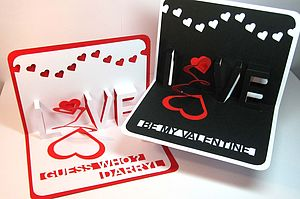 Personalised Pop Up Heart Valentine's Card