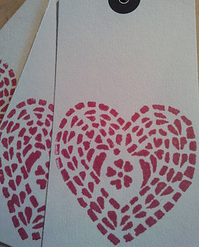 heart gift tag