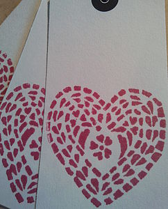 Set Of Five Heart Gift Tags