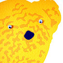 'Knitted Teddy' detail