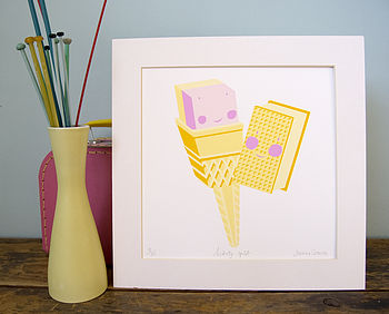 'Lickety Split' limited edition print