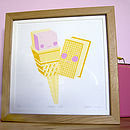 'Lickety Split' framed