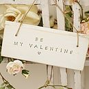 Personalised Valentine's Sign