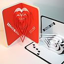 Layered Heart Personalised Pop Up Valentine Card