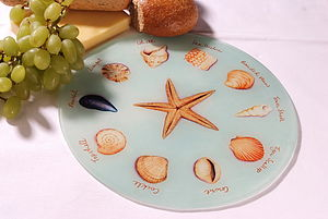 Sea Shell Glass Platter