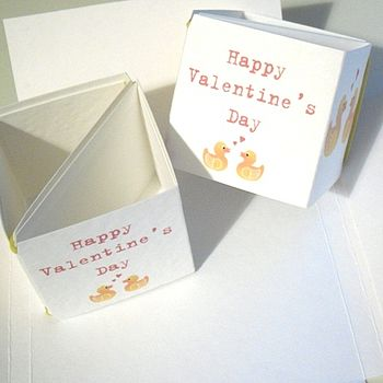 Rubber Ducky Popping Box Valentine's Day Card