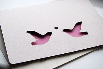 Love Doves - Personalised, Hand Cut, Eco-Friendly Greeting Card