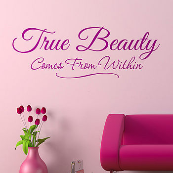 'True Beauty' Wall Sticker Quote