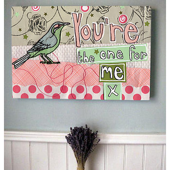 Personalised 'The One For Me' Canvas