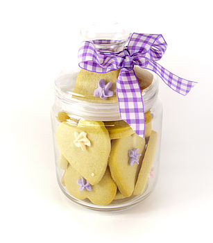 Jar of Spring Flower Butter Biscuits