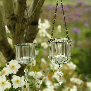 Hanging Teardrop Votive - lights & candles