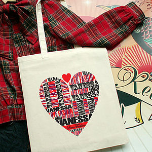Personalised Love Fashion Tote Bag - shopper bags