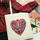 Personalised Love Fashion Tote Bag