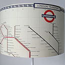 Handmade Tube Map Lampshade