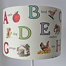 Retro Nursery Alphabet Lampshade