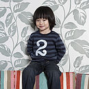 Age/Number Kids T-shirt Vintage Blue & Navy