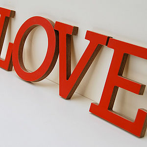 'LOVE' Wooden Letter - room decorations