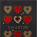 glittered valentines hearts