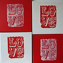 Handprinted 'Love' Canvases